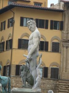 Piazza della Signoria Fountain in Florence Italy