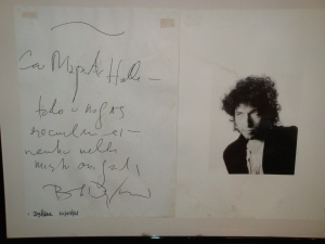 Bob Dylan at the Hotel Majestic in Rome