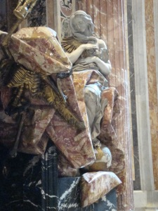 Bernini's Truth with her foot on the Globe