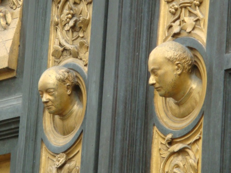 Ghiberti's Self Portrait on the Gates of Paradise in Florence