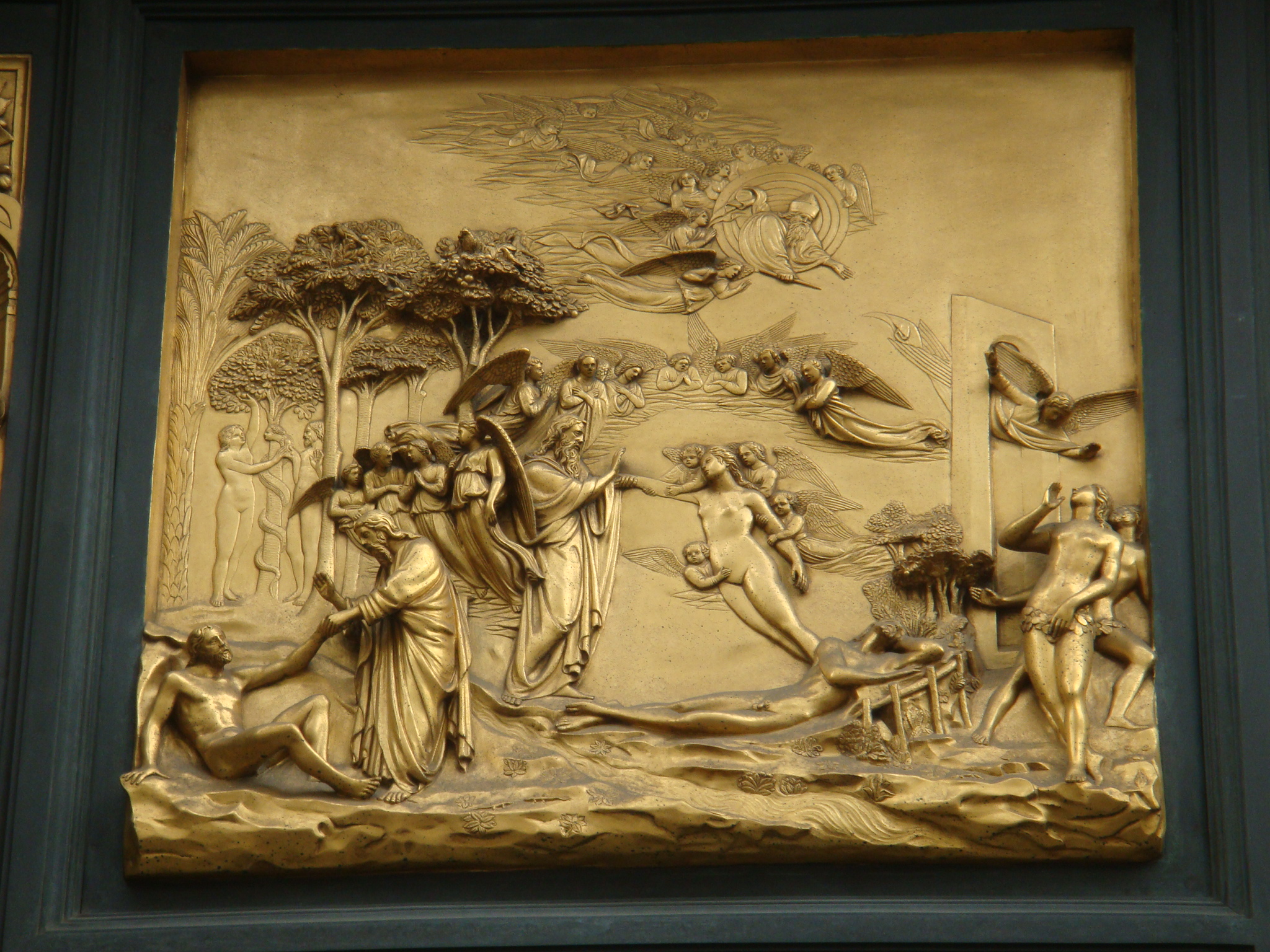 Ghiberti\u0027s Gates of Paradise at the Baptistry in Florence Italy & Ghiberti\u0027s Gates of Paradise: Florence Art History 101 - Vino Con ... Pezcame.Com