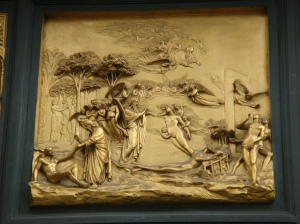 Ghiberti's Gates of Paradise at the Baptistry in Florence Italy