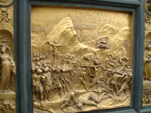 Ghiberti's door of David and Goliath