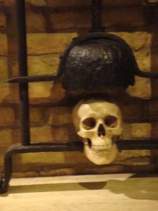 Skull in San Gimignano Torture Museum