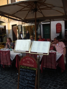 Cafe Agrippa at the Pantheon in Rome