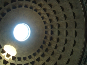 Pantheon Oculus in Rome Italy