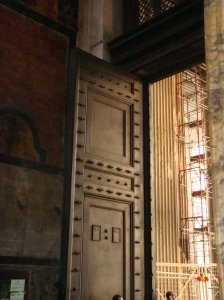 Pantheon Doors in Rome Italy