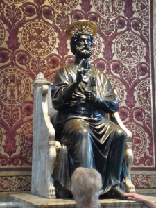 Bronze Statue of St. Peter in St. Peter's Basilica in Italy