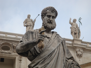 Statue of St. Peter by Giuseppe de Fabris
