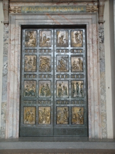 Holy doors at St. Peter's Basilica in the Vatican City
