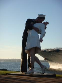 Nurse and Sailor in San Diego California