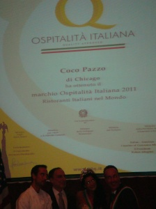 Coco Pazza Quallity Award