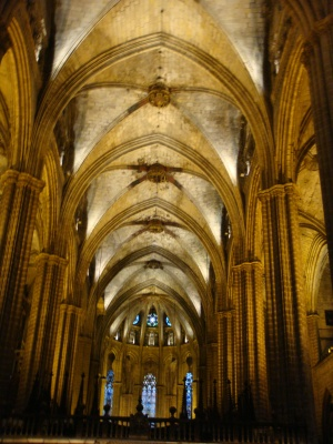 Gothic Cathedral in Barcelona Spain