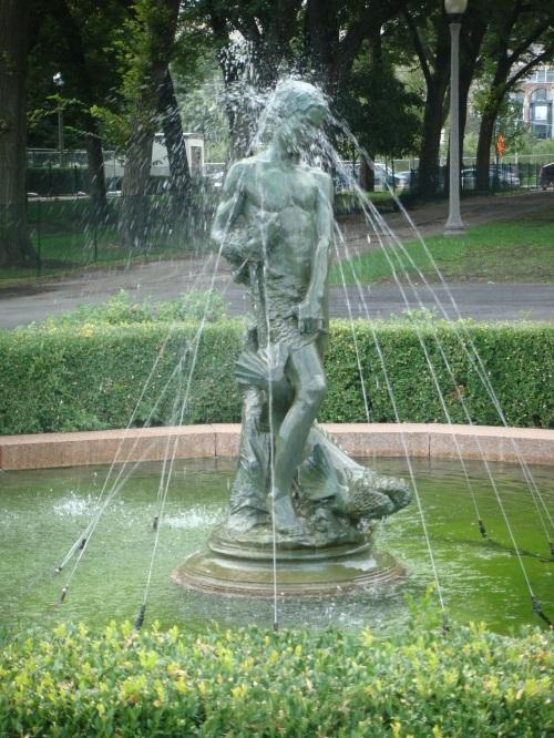 Fountain in Chicago in Grant Park