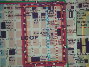 Downtown Chicago Loop Map
