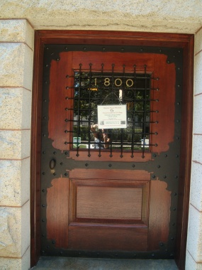 Original Front Door of the Glessner House on Prairie Avenue in Chicago