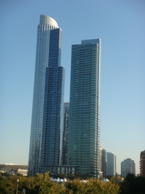High rises near Chicago's Prarie District in the South Loop