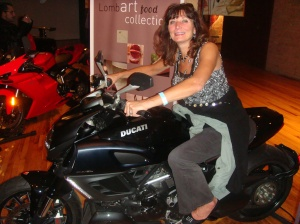 Dr. EveAnn Lovero loves her Ducati Motorcycle