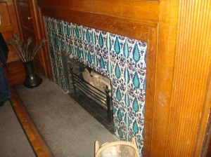 Glessner House restored fireplace