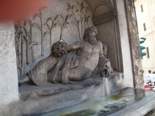 Art in Rome: River Fountain in Rome