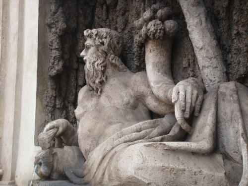 Art in Rome: Tiber River Fountain in Rome Italy