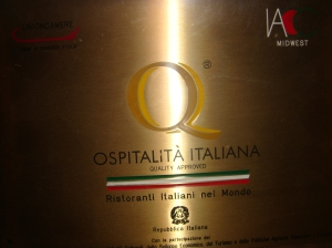 Ospitalita Italiana Plaque for Italian Village