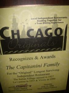 Chicago Originals Award