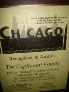 Chicago Originals Award