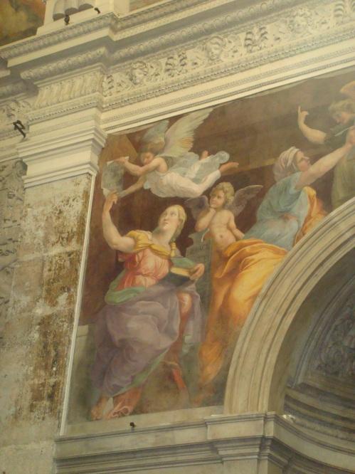 Raphael's Sybils in Santa Maria Della Pace in Rome Italy