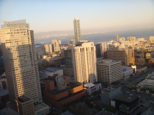 San Francisco from the Marriott Marquis View Lounge