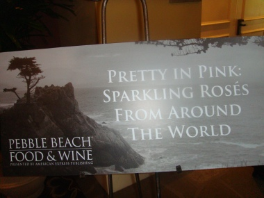 Pretty in Pink at Pebble Beach Food and WIne Festival 2012