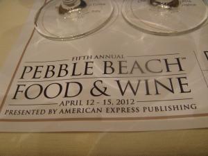 Pebble Beach Food & Wine Festival 2012