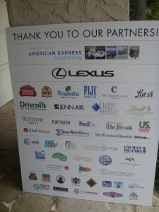 Pebble Beach Food and Wine Sponsors 2012