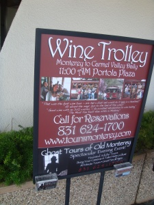 Monterey California Wine Trolley at the Portola Hotel