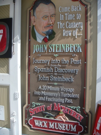 John Steinbeck at the Wax Museum in Monterey