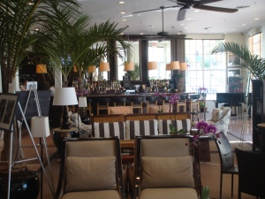 Lobby of the Betsy Ross Hotel in South Beach