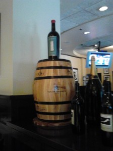 Display your wine on a Barrel if you can find one