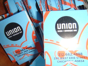 Tech Week Chicago Sushi from Union