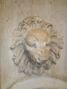 A Lion in side the Chicago Water Tower