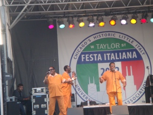 Legendary Drifters perform on Taylor Street Italian Festival 2012