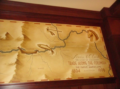 Map in the Lobby of the Governor Hotel