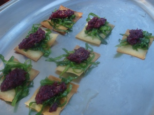 Beet Appetizers at Phelps Creek Winery