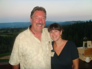 Lonnie and Sierra; Father and Daughter Team from The Pines Winery in Oregon