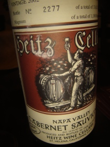 Heitz Cellars Cab from Napa