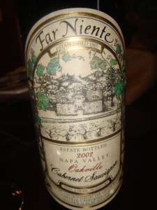 Far Niente from Napa