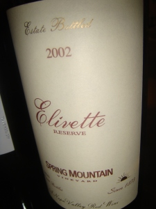 Elivette Cab from Napa