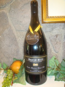 David Hill Pinot Noir in Forest Grove Oregon