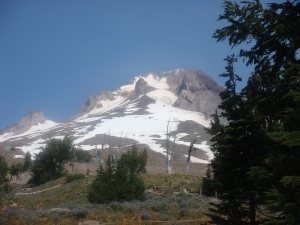 Snow-capped Mount Hood in Oregon