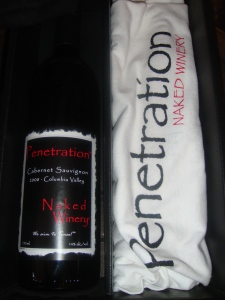 Penetration Wine and Matching Tee Shirt
