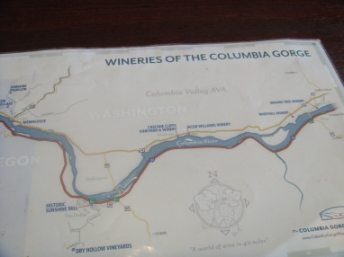Wine Map of WIneries in the Columbia River Gorge